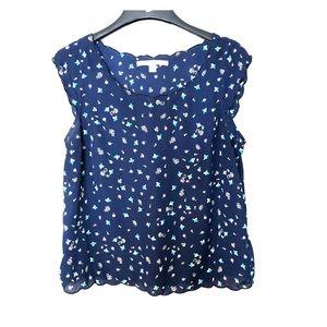 Lauren Conrad Navy blue blouse size large